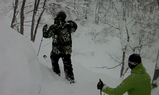 Deep Powder day at Akakura Kanko